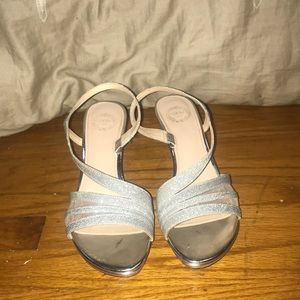 7cdb3b8d080b2 jcpenney Shoes - L Miller Sparkly Silver Heels